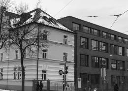 Portfolio IEP: Bildungszentrum für die Volkshochschule München, Einsteinstraße 28 - schwarz-weiß