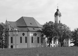 Portfolio IEP: Brandschutz Wieskirche in Steingaden - schwarz-weiß