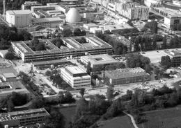 Portfolio IEP: Erschließung TUM Garching, Ost Hochschulgelände, Start der Baumaßnahmen - schwarz-weiß