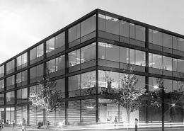 Portfolio IEP: Neubau der Fakultät der Elektro- und Informationstechnik der TUM in Garching, 1.BA - schwarz-weiß