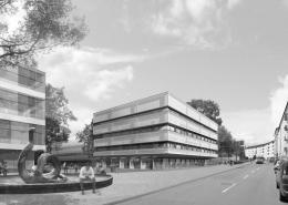 Portfolio IEP: Neubau Nano-Institut der LMU - schwarz-weiß